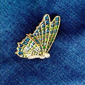 KJL Butterfly Enamel Pin Brooch Kenneth J Lane 🦋